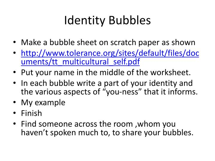 Identity Bubbles