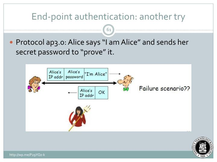 End-point authentication: another try