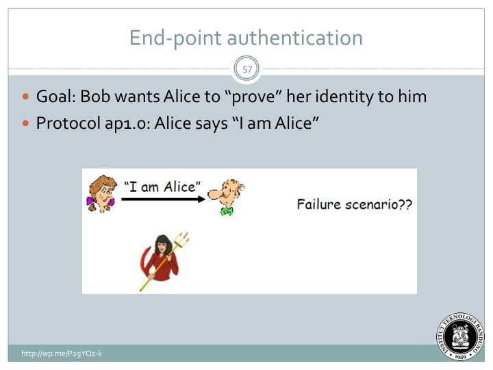 End-point authentication