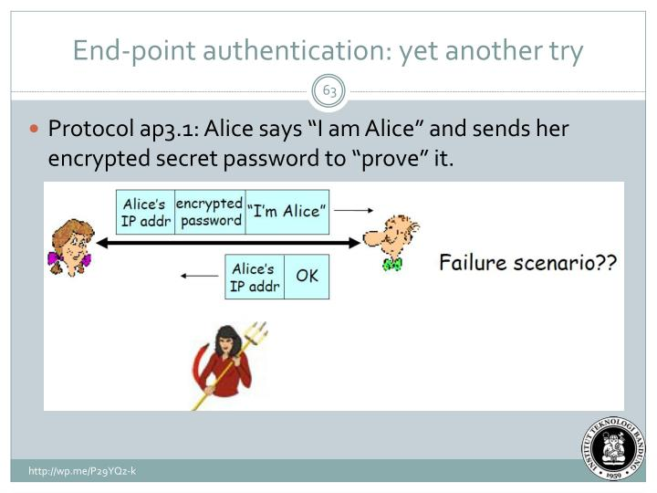 End-point authentication: yet another try