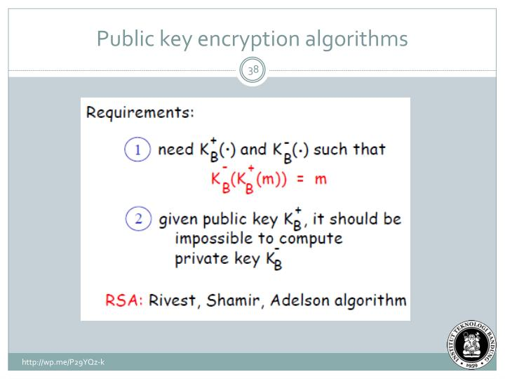 Public key encryption algorithms