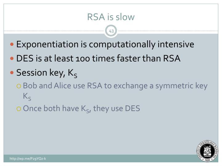RSA is slow