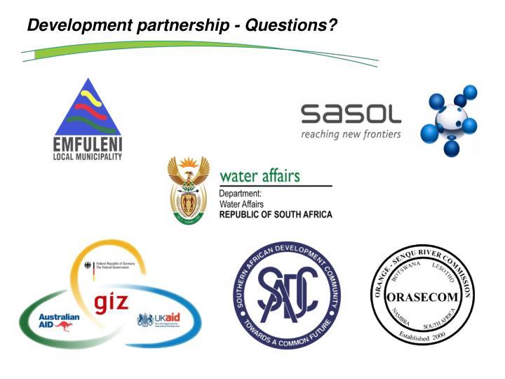 Development partnership - Questions?