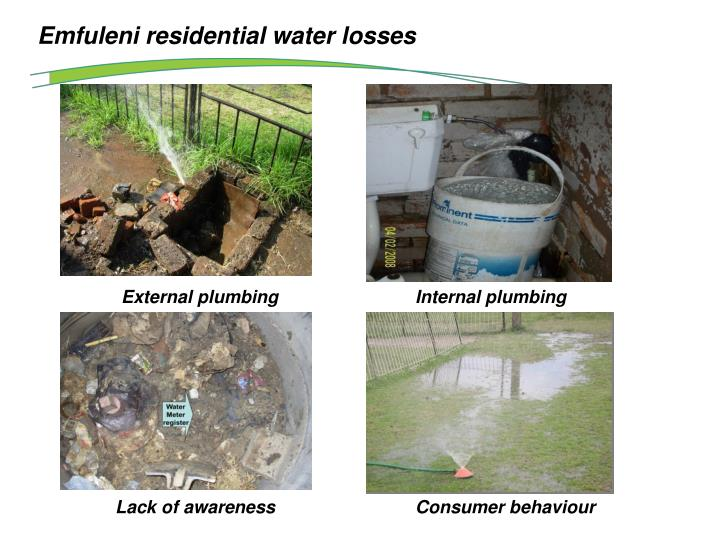 Emfuleni residential water losses