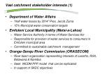 vaal catchment stakeholder interests 1