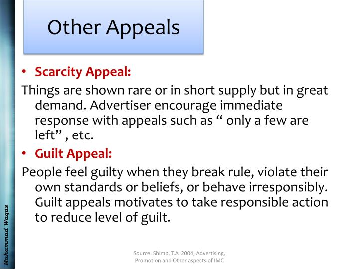 Other Appeals