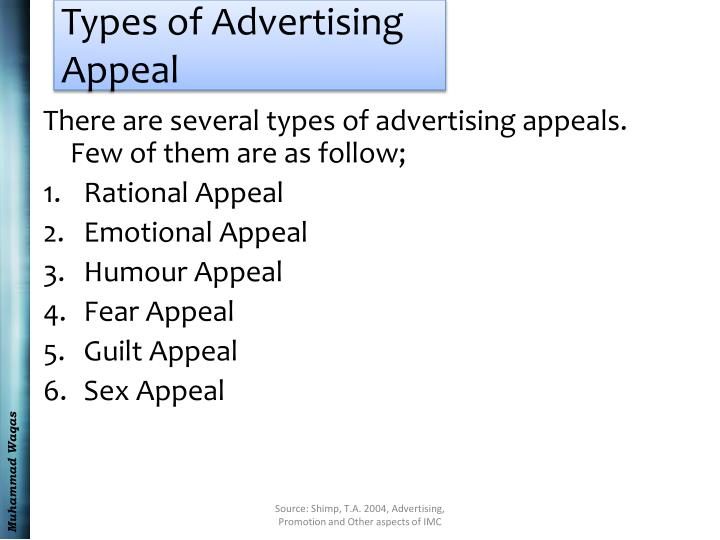 Types of Advertising Appeal