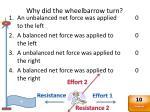 why did the wheelbarrow turn