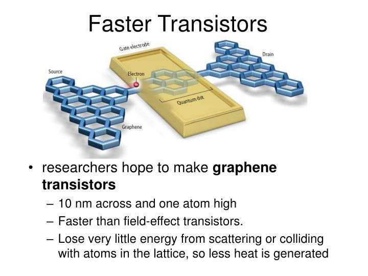 Faster Transistors