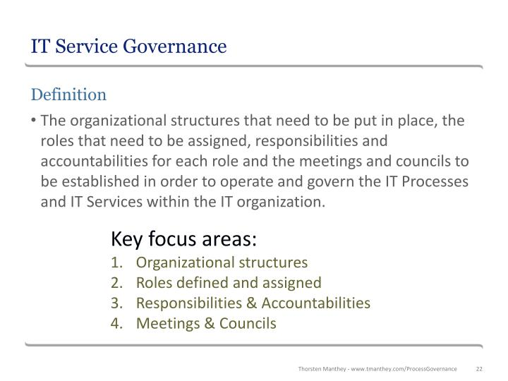 IT Service Governance