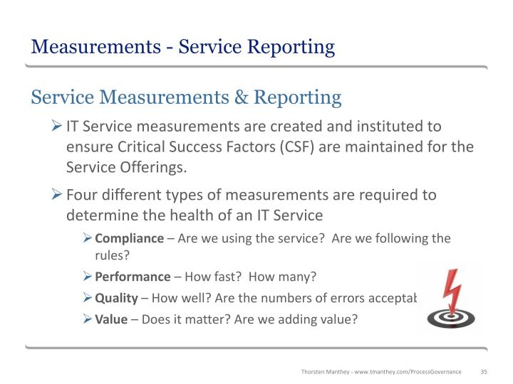 Measurements - Service Reporting