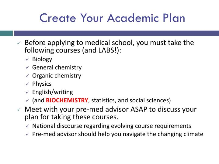 Create Your Academic Plan