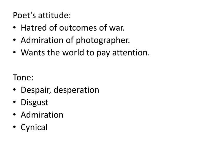 Poet's attitude: