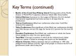 key terms continued