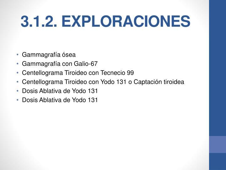 3.1.2. EXPLORACIONES
