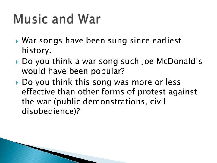 Music and War
