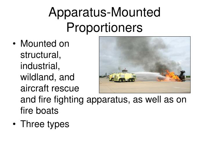 Apparatus-Mounted Proportioners