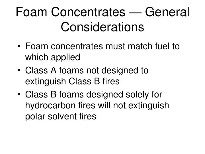 Foam Concentrates