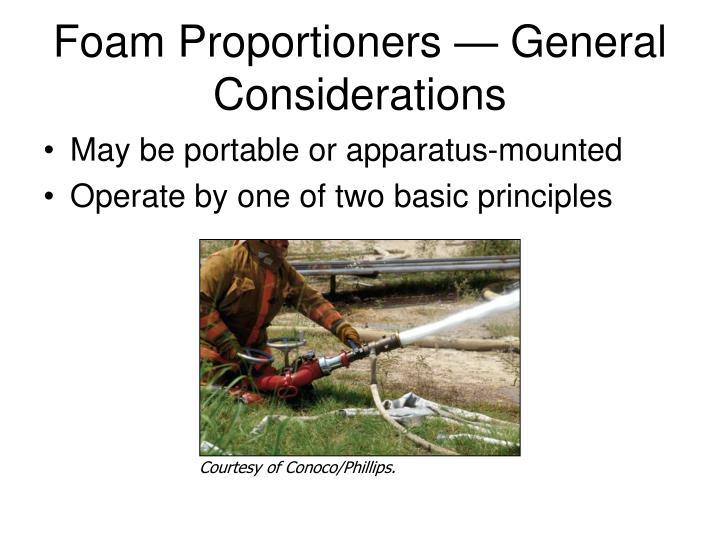 Foam Proportioners