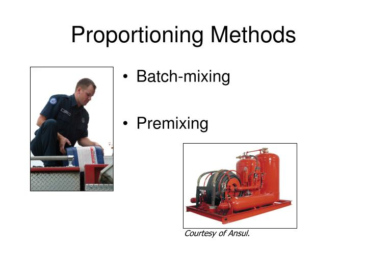 Proportioning Methods