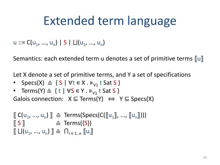 Extended term language