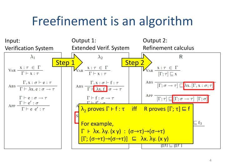 Freefinement