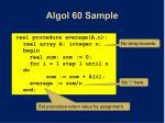 algol 60 sample