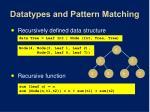 datatypes and pattern matching