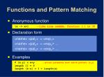 functions and pattern matching