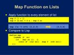 map function on lists