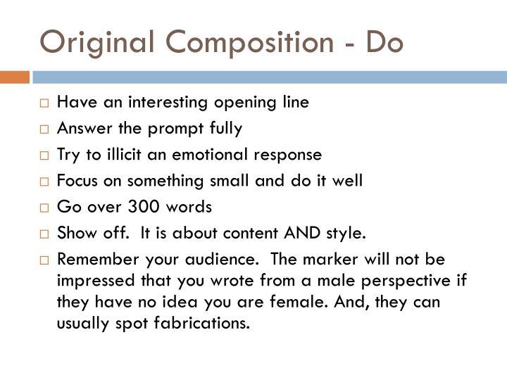Original Composition - Do