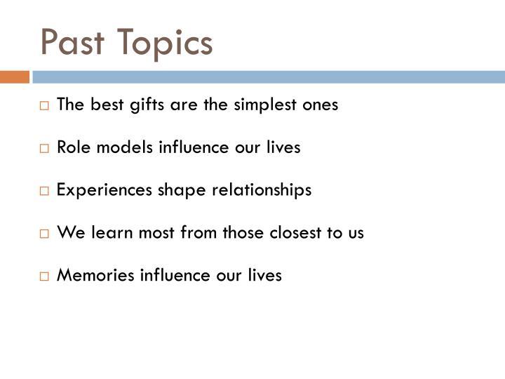 Past Topics