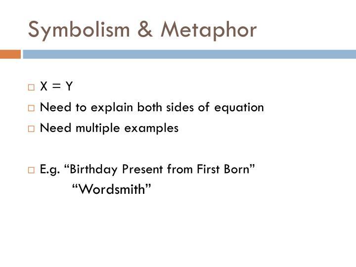 Symbolism & Metaphor