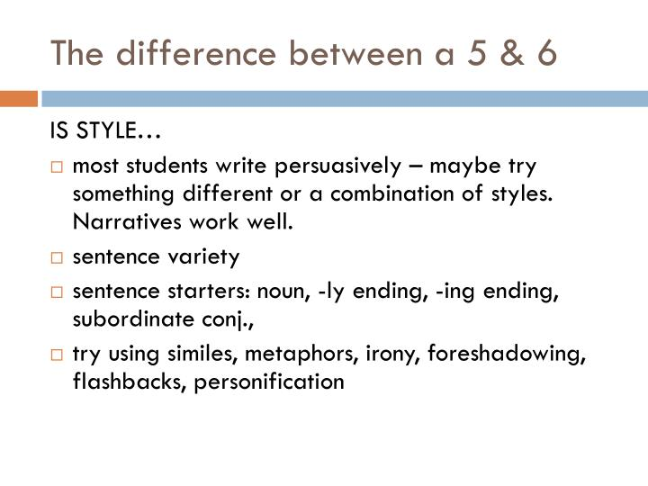 The difference between a 5 & 6