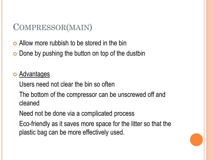 Compressor(main)