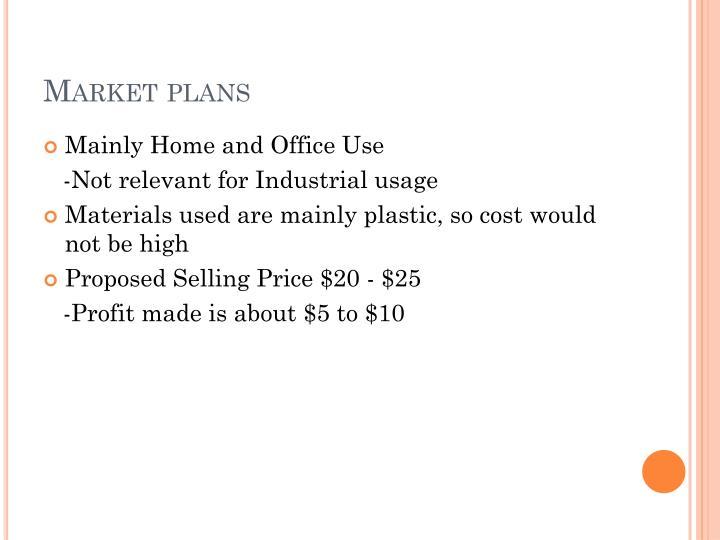 Market plans