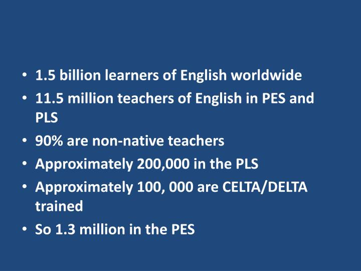 1.5 billion learners of English worldwide