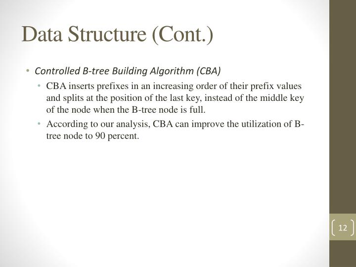 Data Structure (Cont.)