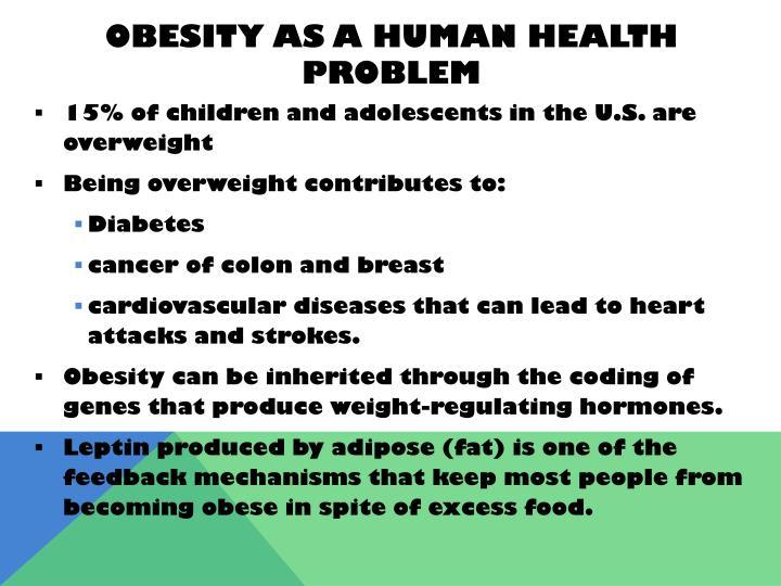Obesity as a human health problem