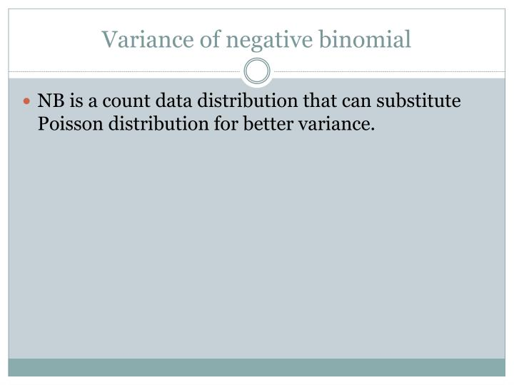 Variance of negative binomial