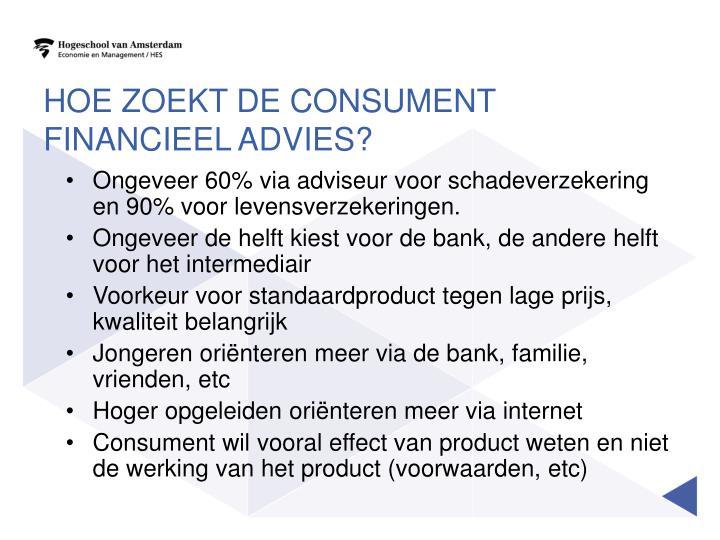 Hoe zoekt de consument financieel advies?