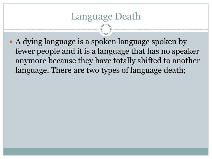Language Death