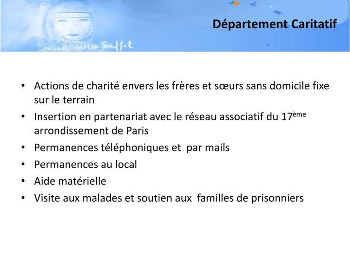 Département Caritatif