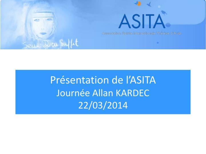 Présentation de l'ASITA