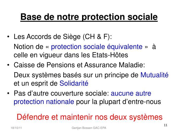 Base de notre protection sociale