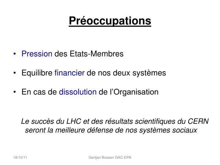 Préoccupations