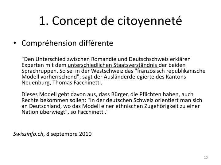 1. Concept de citoyenneté