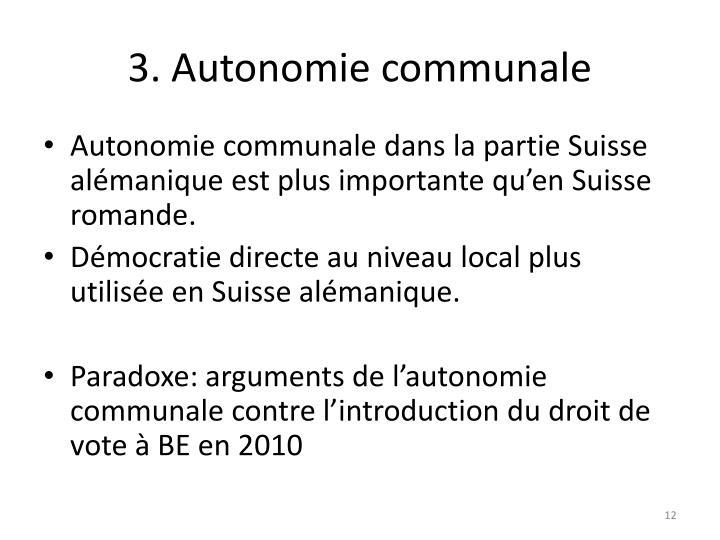 3. Autonomie communale