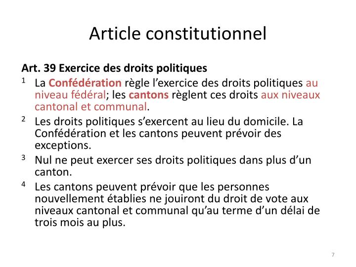 Article constitutionnel