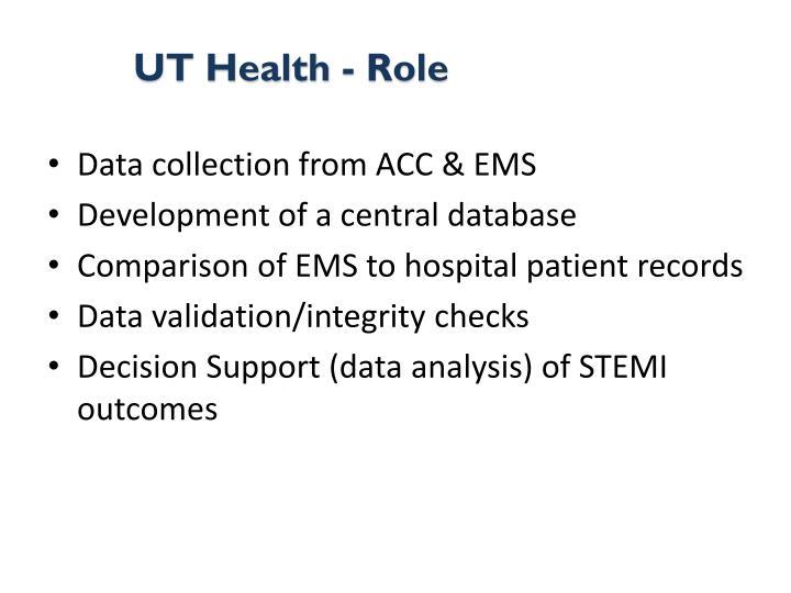 UT Health - Role